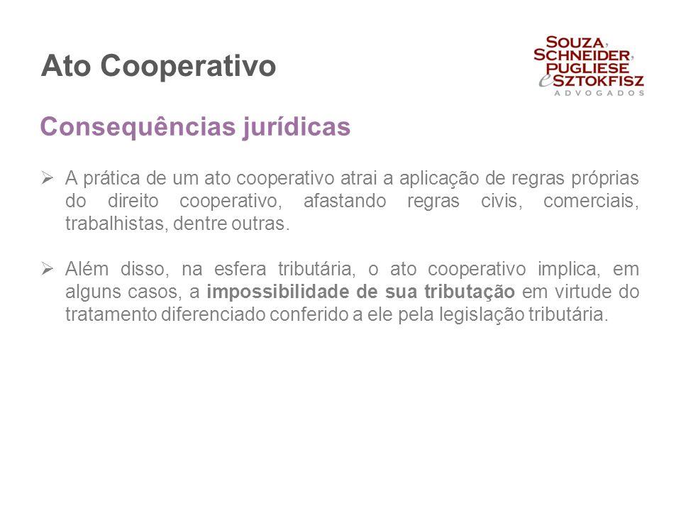 Ato Cooperativo Consequências jurídicas