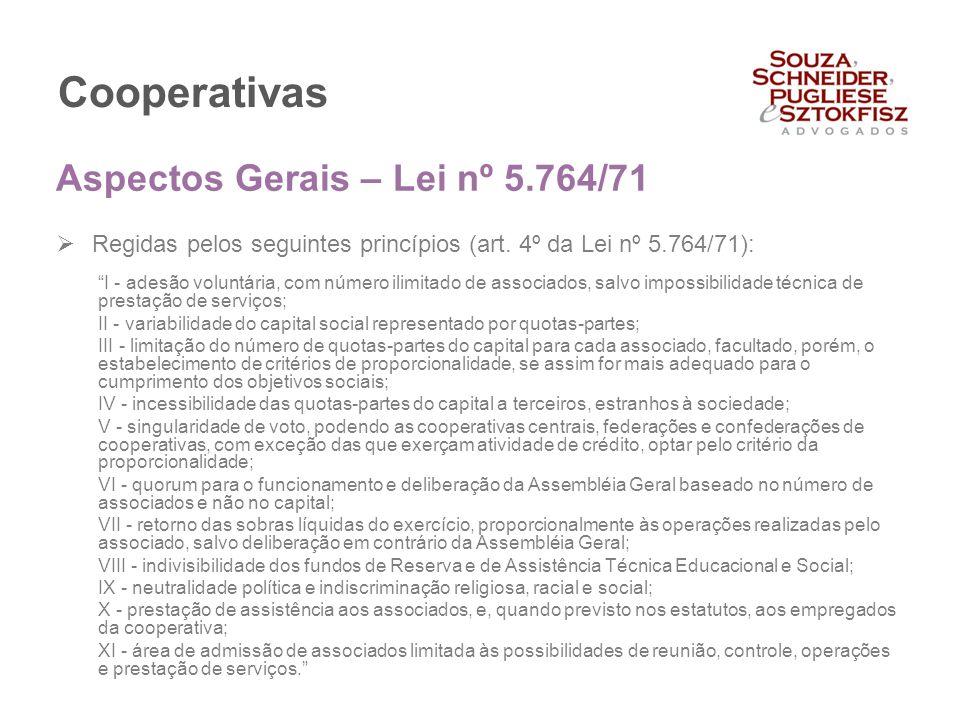 Cooperativas Aspectos Gerais – Lei nº 5.764/71