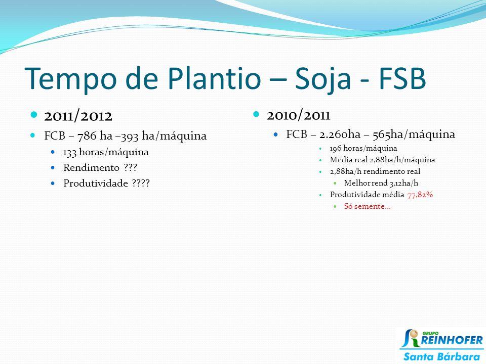 Tempo de Plantio – Soja - FSB