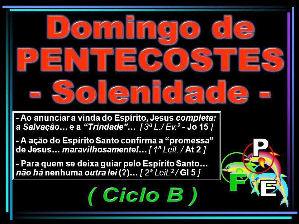 Domingo de PENTECOSTES - Solenidade - P F E ( Ciclo B )