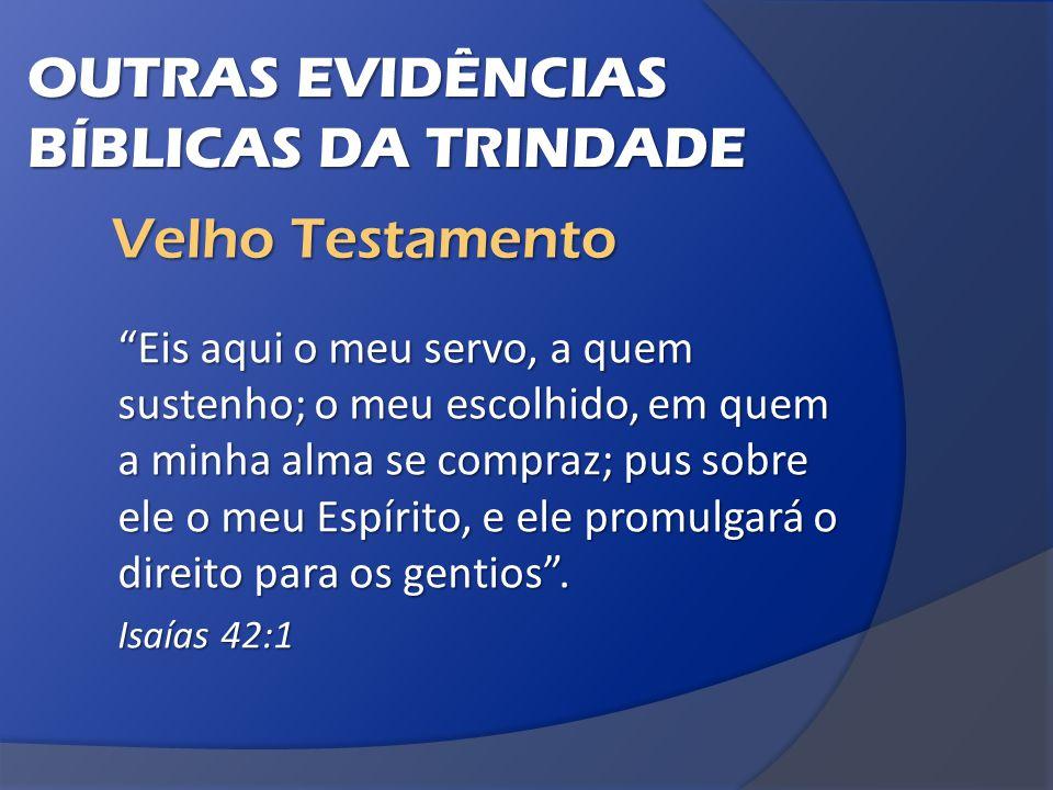 OUTRAS EVIDÊNCIAS BÍBLICAS DA TRINDADE