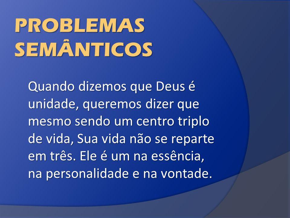 PROBLEMAS SEMÂNTICOS