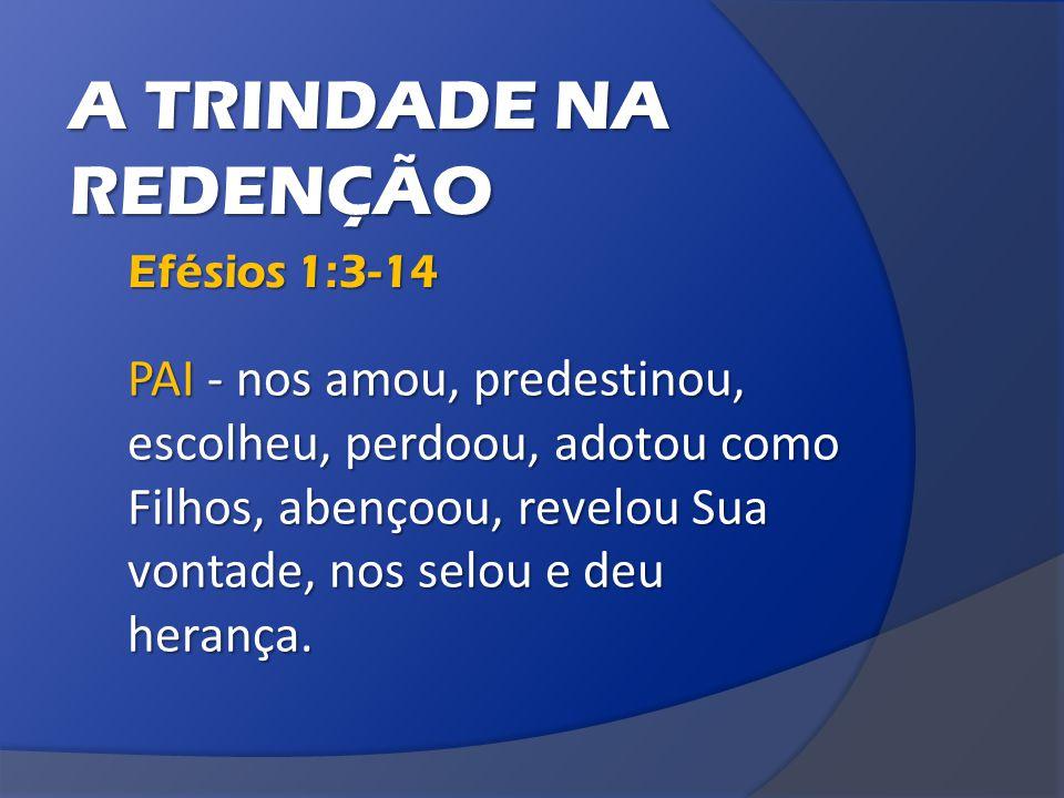 A TRINDADE NA REDENÇÃO Efésios 1:3-14
