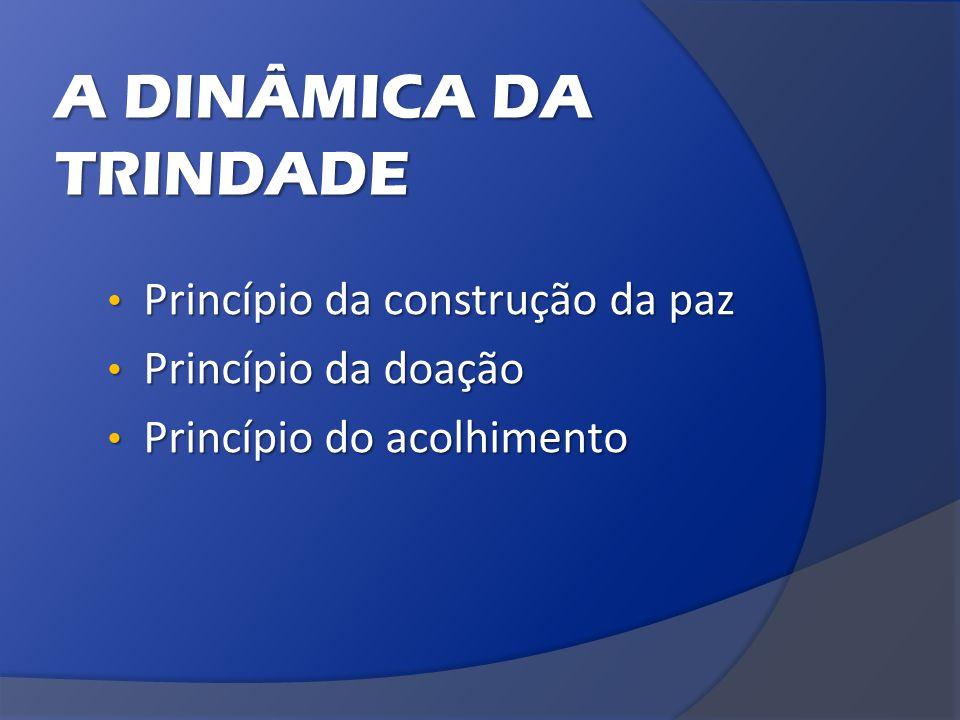 A DINÂMICA DA TRINDADE Princípio da construção da paz