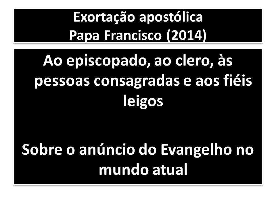 Exortação apostólica Papa Francisco (2014)