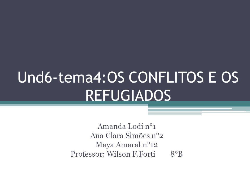 Und6-tema4:OS CONFLITOS E OS REFUGIADOS