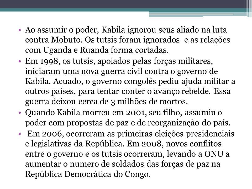 Ao assumir o poder, Kabila ignorou seus aliado na luta contra Mobuto