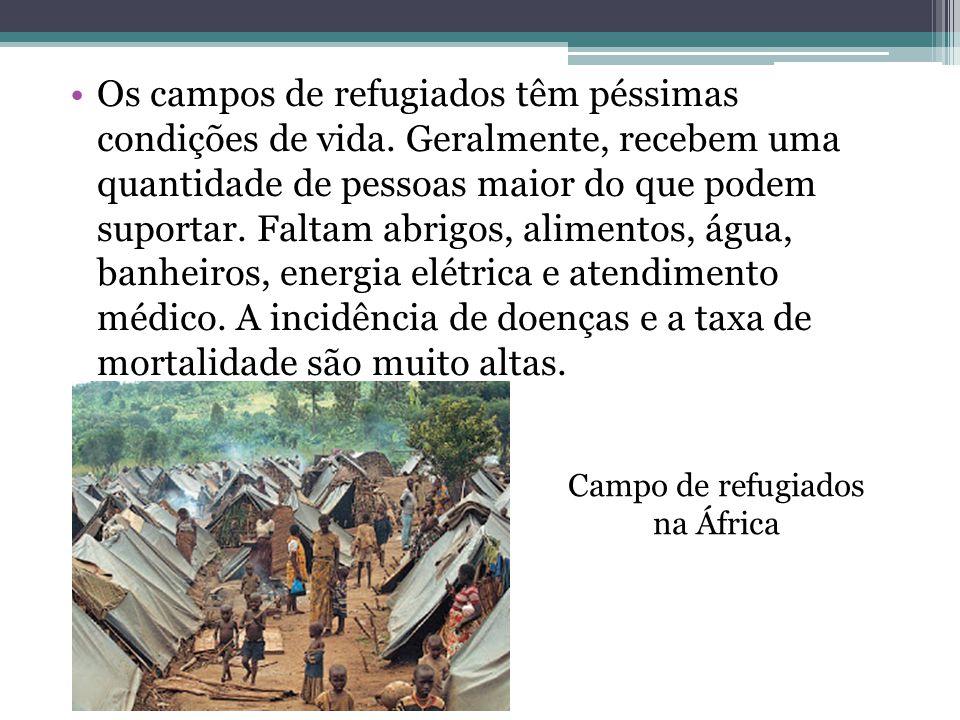 Campo de refugiados na África
