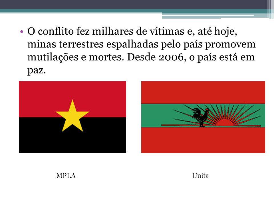 O conflito fez milhares de vítimas e, até hoje, minas terrestres espalhadas pelo país promovem mutilações e mortes. Desde 2006, o país está em paz.