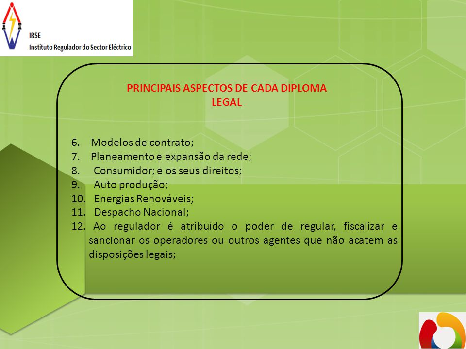 PRINCIPAIS ASPECTOS DE CADA DIPLOMA LEGAL