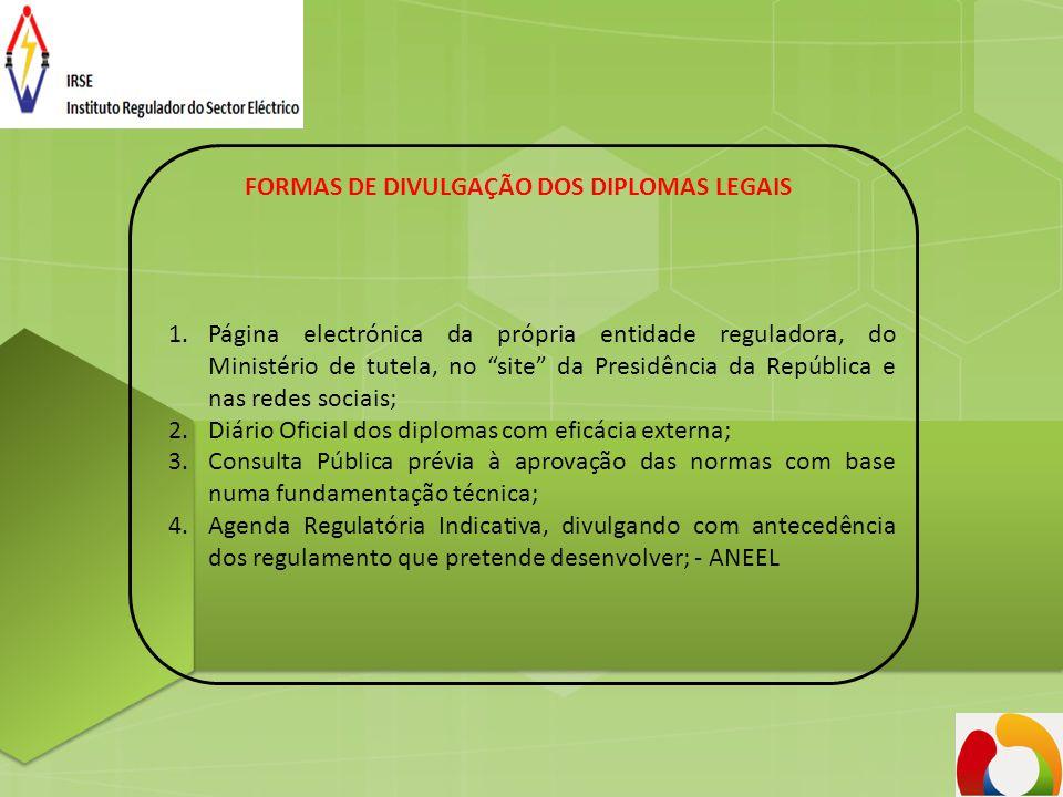 FORMAS DE DIVULGAÇÃO DOS DIPLOMAS LEGAIS