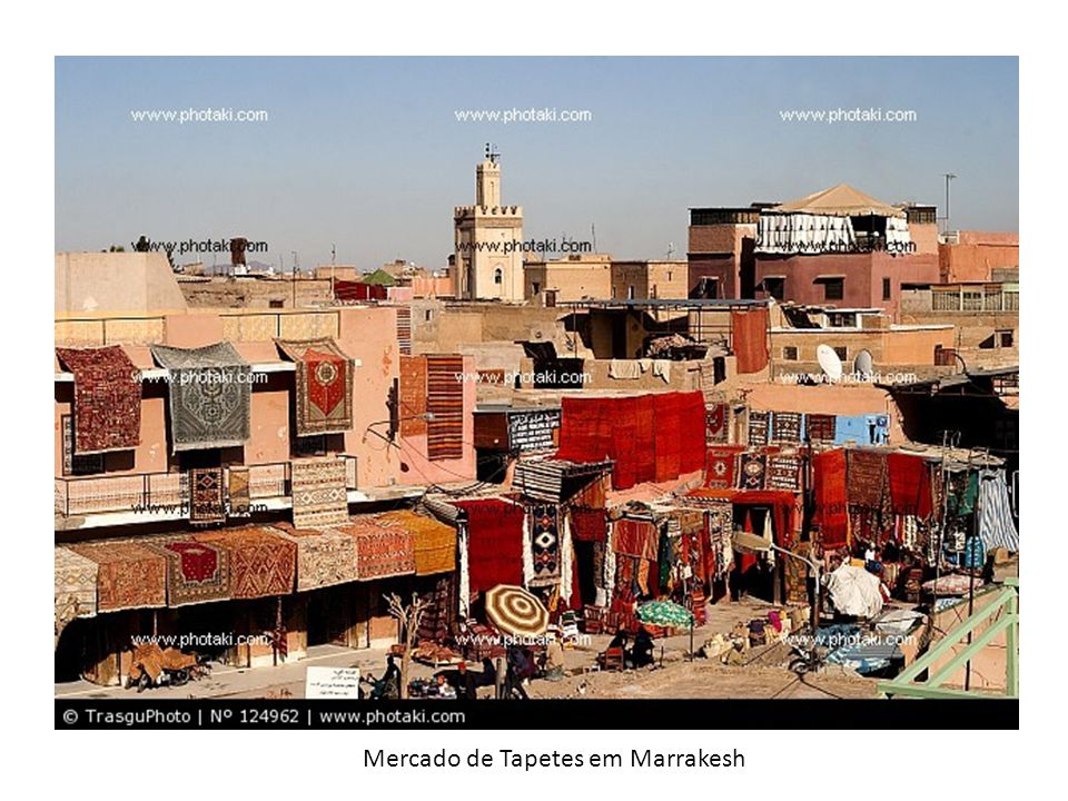 Mercado de Tapetes em Marrakesh