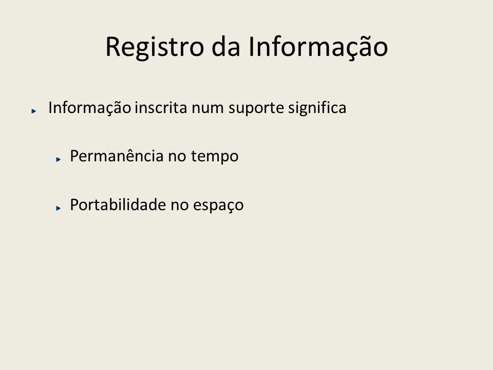 Registro da Informação