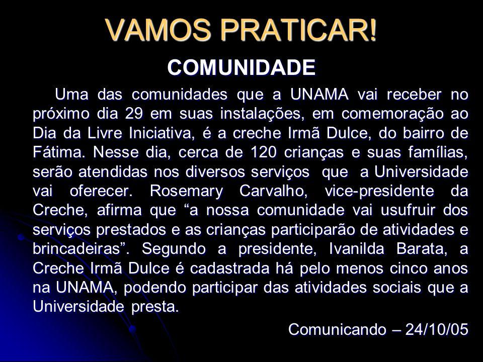 VAMOS PRATICAR! COMUNIDADE