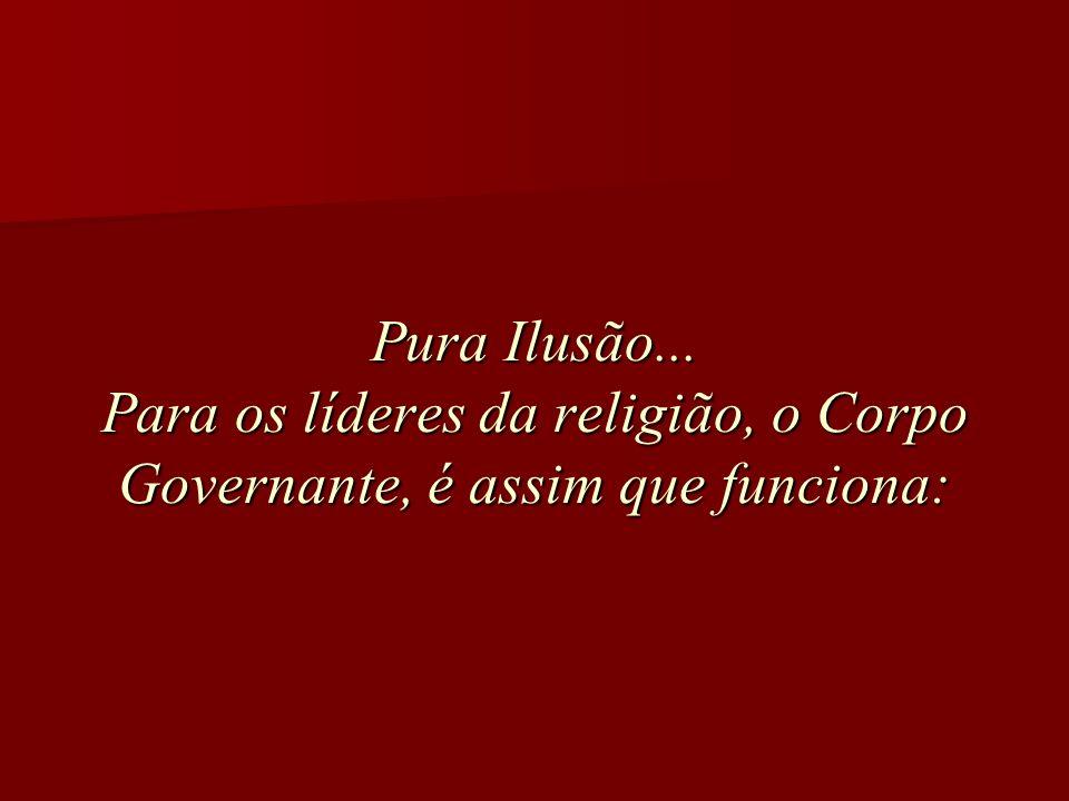 Pura Ilusão... Para os líderes da religião, o Corpo Governante, é assim que funciona: