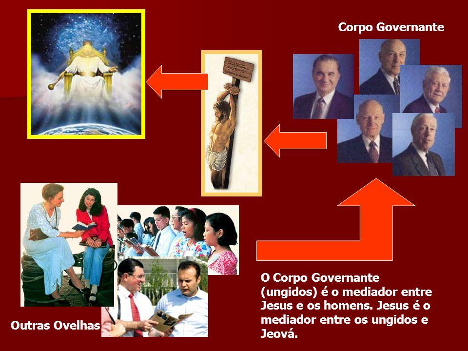 Corpo Governante O Corpo Governante (ungidos) é o mediador entre Jesus e os homens. Jesus é o mediador entre os ungidos e Jeová.