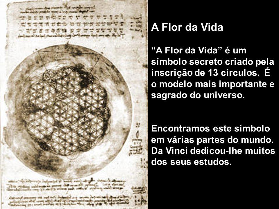 A Flor da Vida A Flor da Vida é um símbolo secreto criado pela inscrição de 13 círculos. É o modelo mais importante e sagrado do universo.