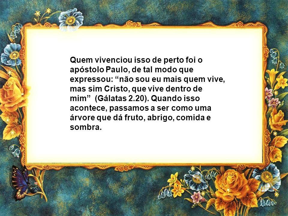 Quem vivenciou isso de perto foi o apóstolo Paulo, de tal modo que expressou: não sou eu mais quem vive, mas sim Cristo, que vive dentro de mim (Gálatas 2.20).