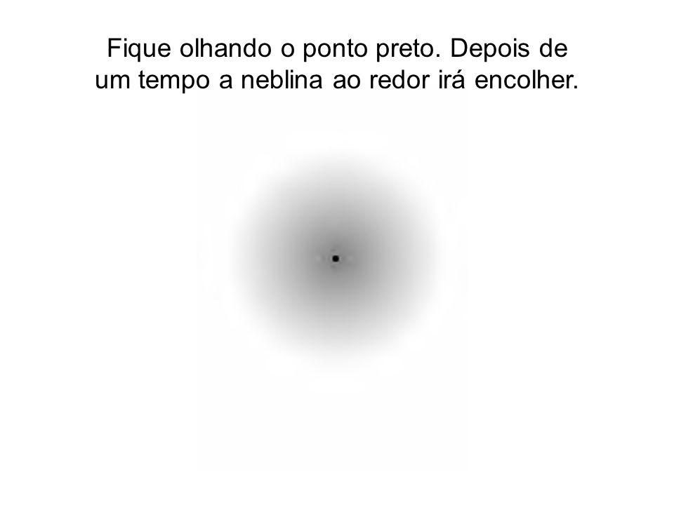 Fique olhando o ponto preto