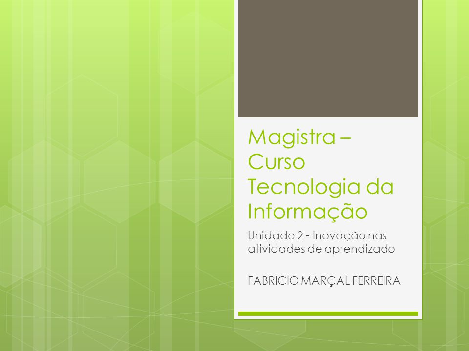 Magistra – Curso Tecnologia da Informação