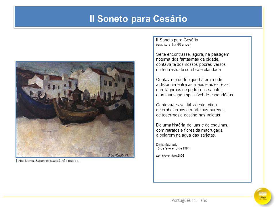 II Soneto para Cesário II Soneto para Cesário