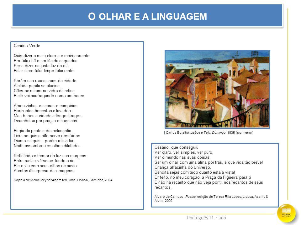 O OLHAR E A LINGUAGEM Cesário Verde