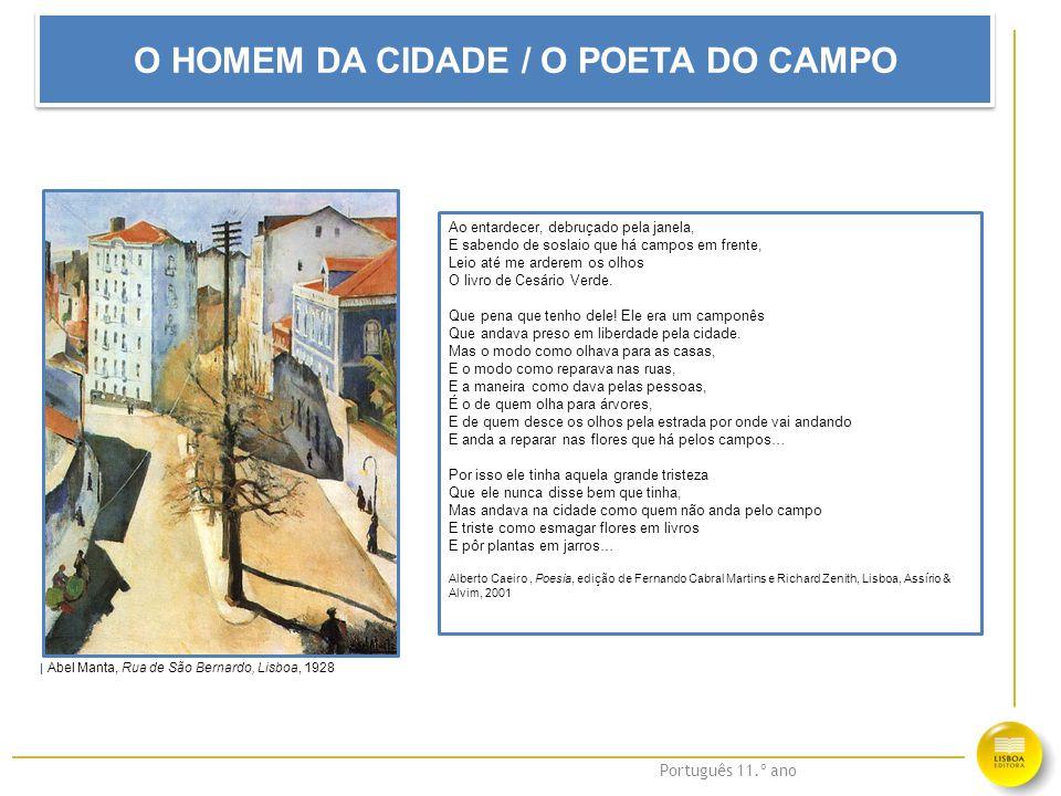 O HOMEM DA CIDADE / O POETA DO CAMPO