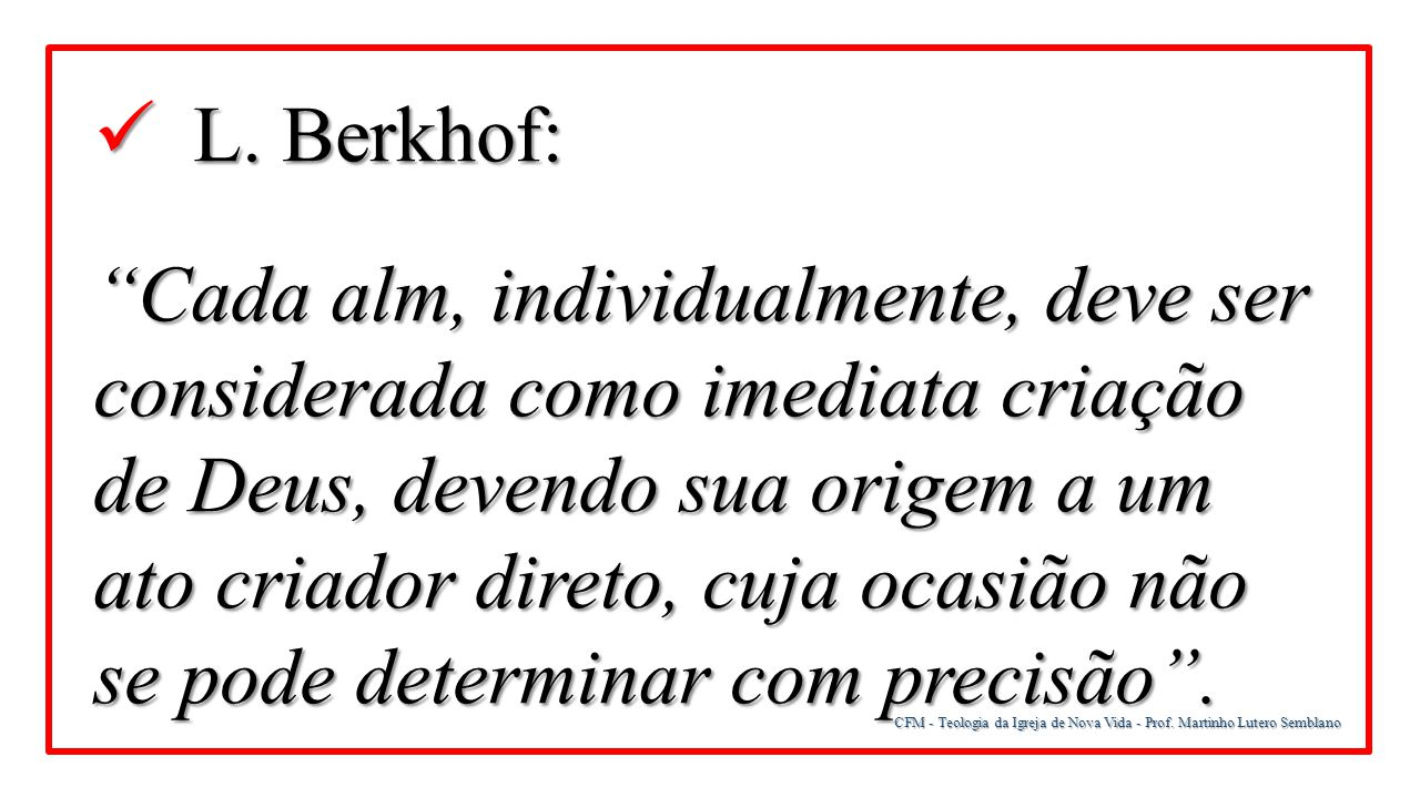 L. Berkhof: