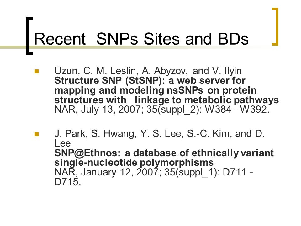 Recent SNPs Sites and BDs
