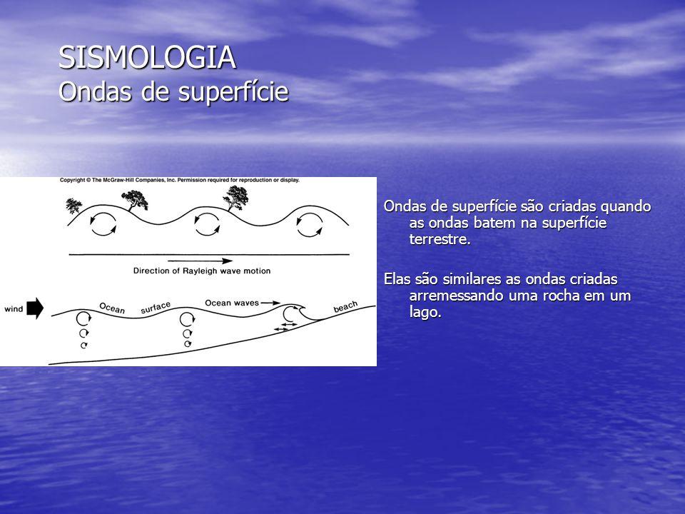 SISMOLOGIA Ondas de superfície