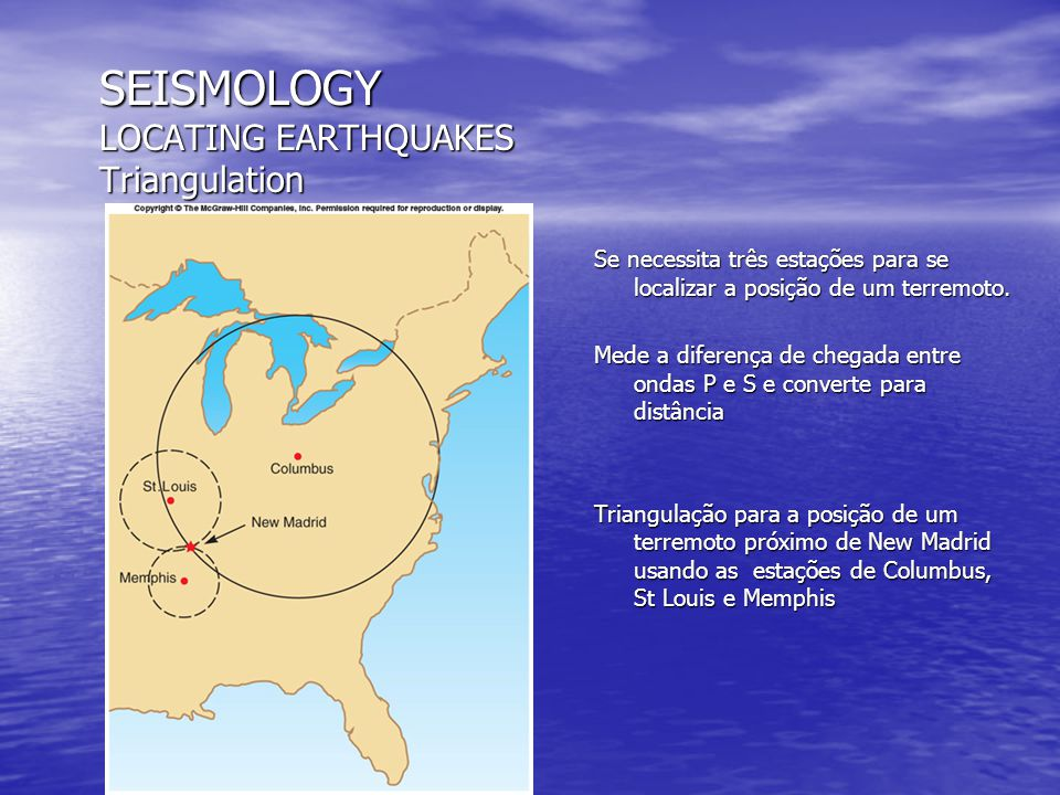 SEISMOLOGY LOCATING EARTHQUAKES Triangulation