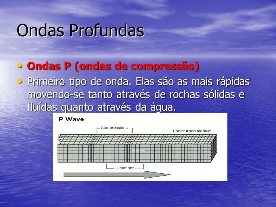 Ondas Profundas Ondas P (ondas de compressão)