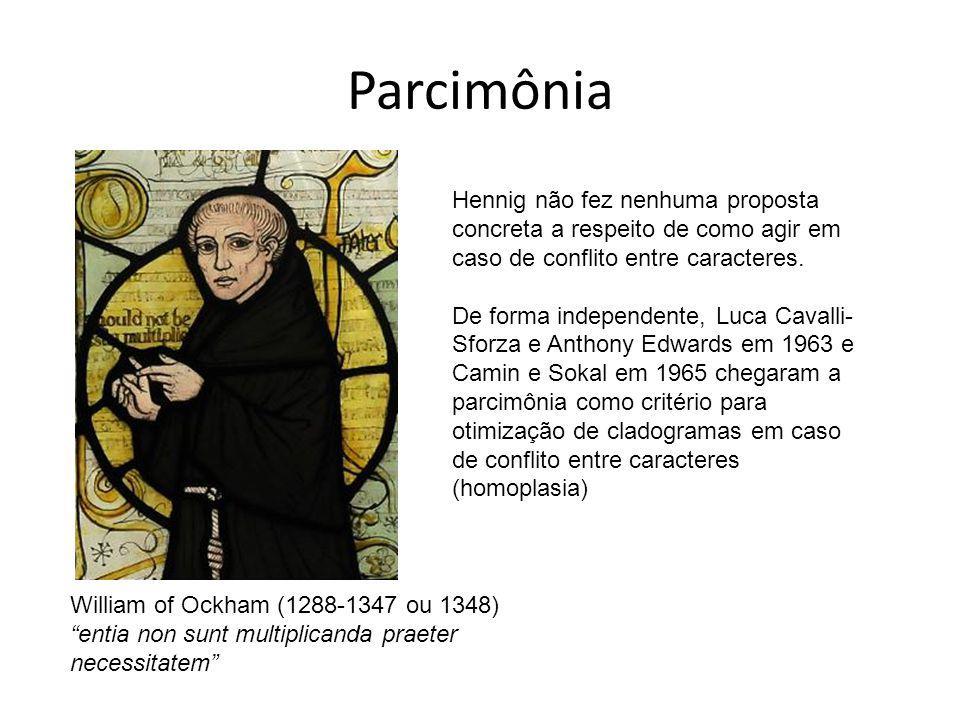 Parcimônia Hennig não fez nenhuma proposta concreta a respeito de como agir em caso de conflito entre caracteres.