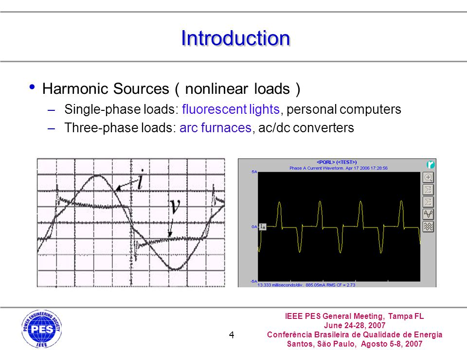 Introduction Harmonic Sources(nonlinear loads)