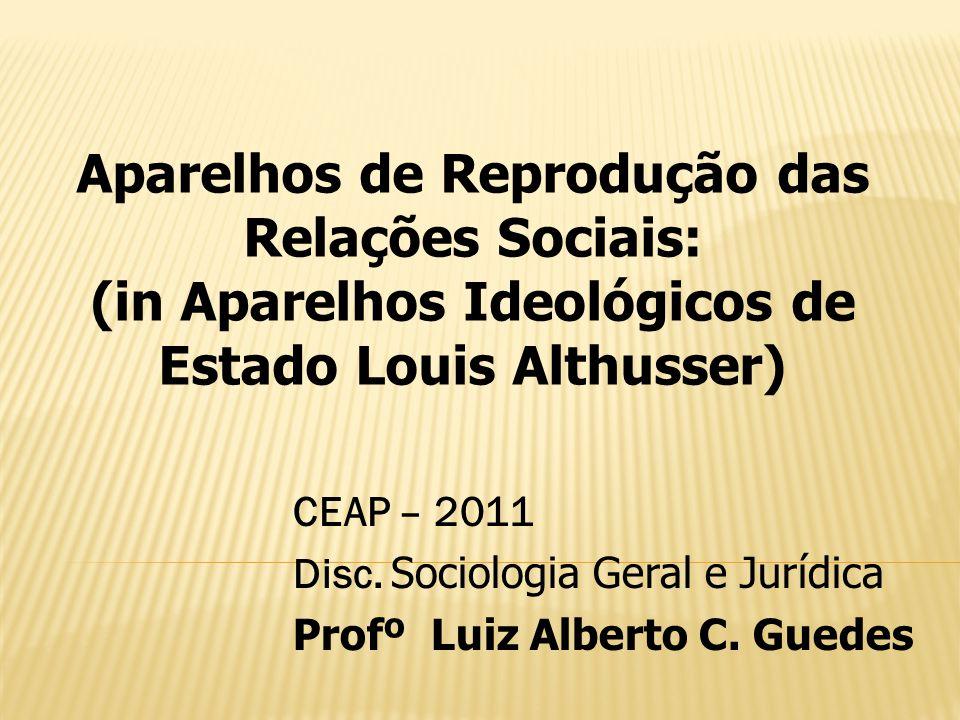 (in Aparelhos Ideológicos de Estado Louis Althusser)
