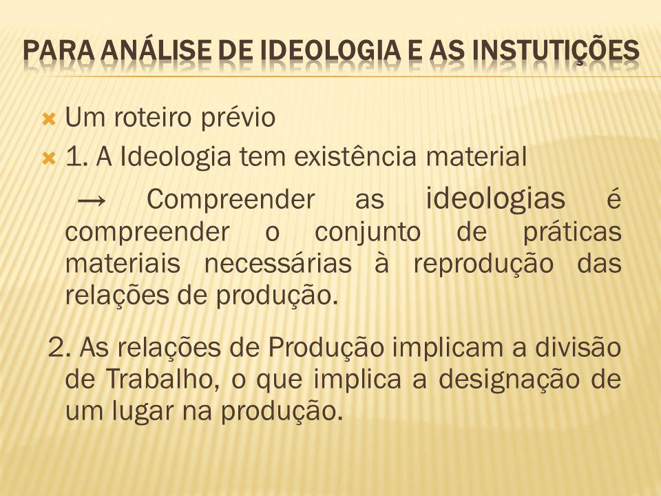 Para análise de IDEOLOGIA E AS INSTUTIÇÕES