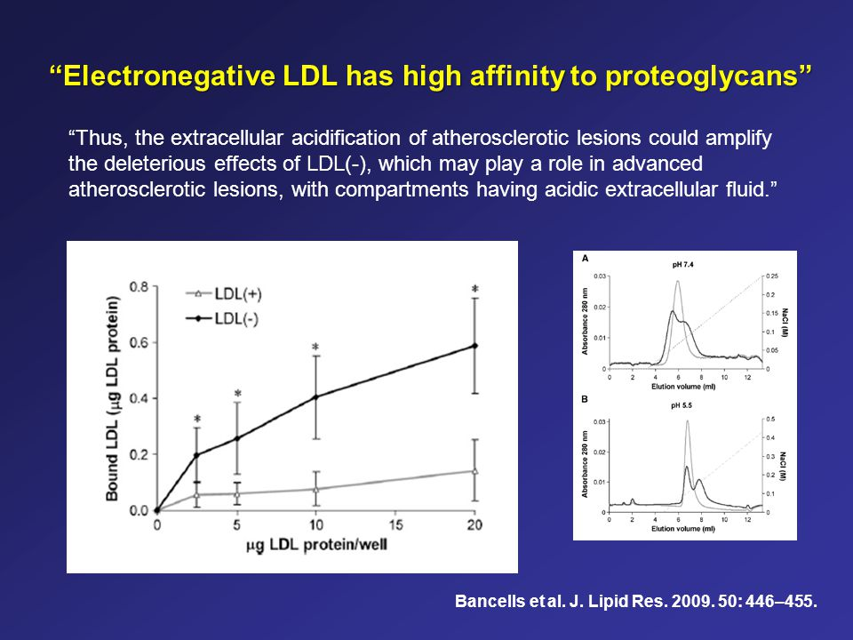 Electronegative LDL has high affinity to proteoglycans