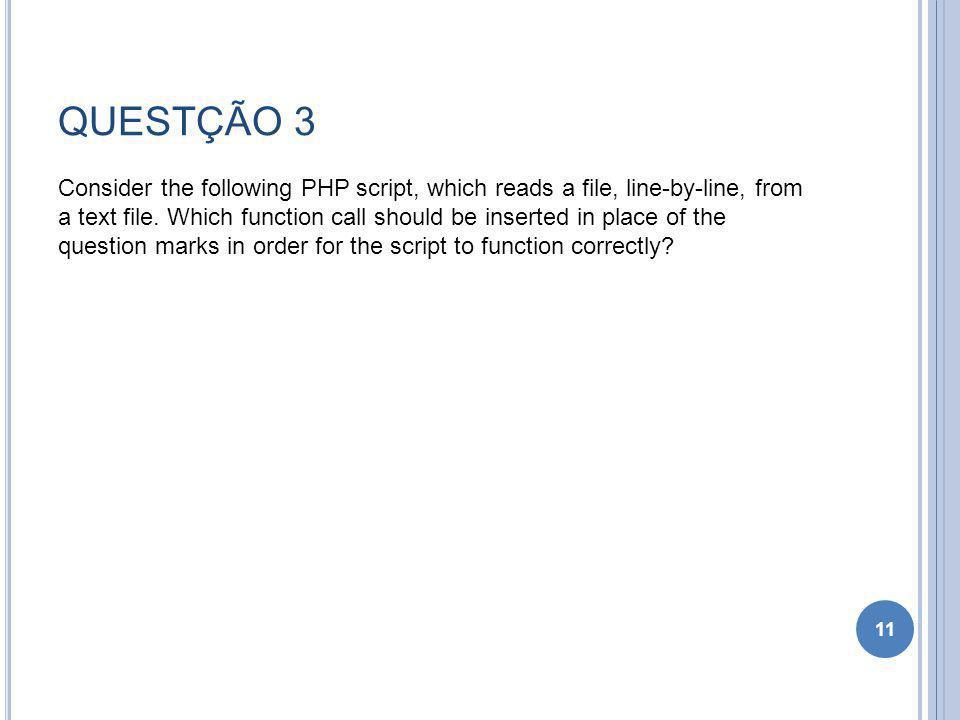 QUESTÇÃO 3