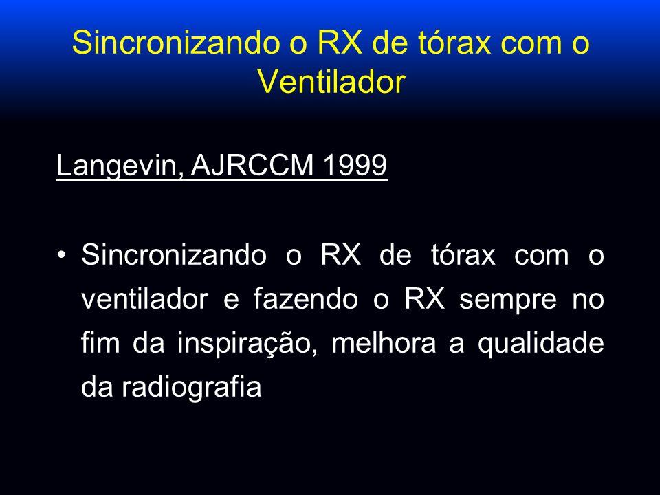 Sincronizando o RX de tórax com o Ventilador