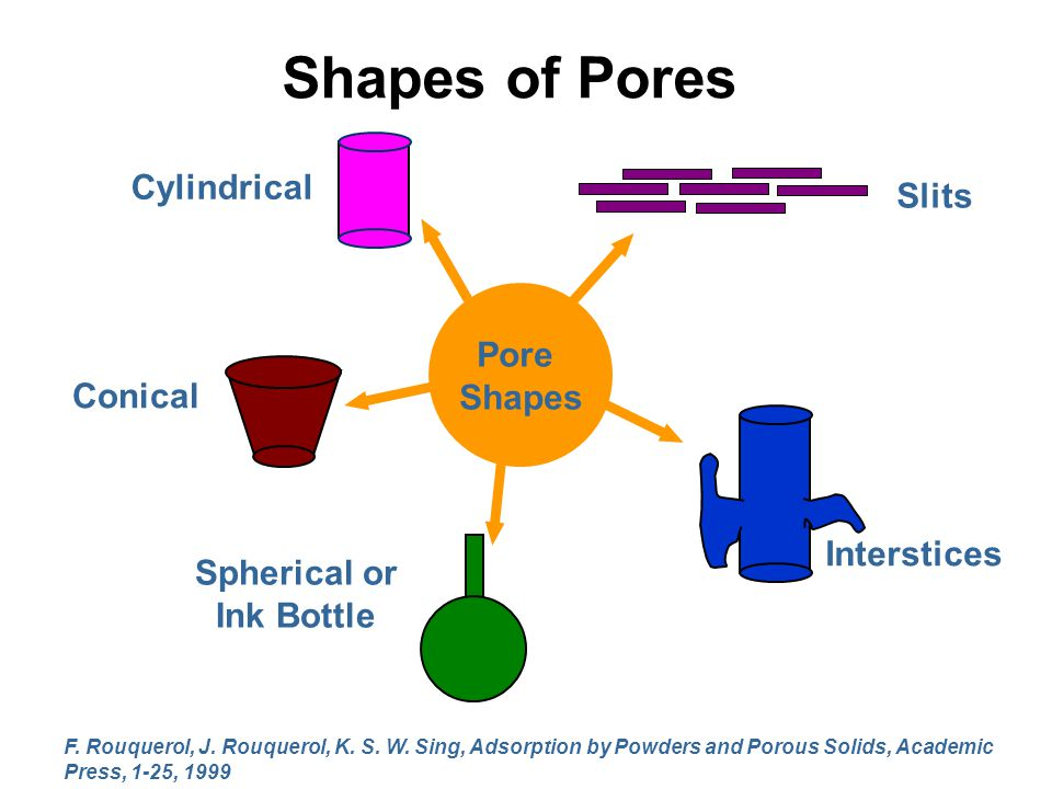 Shapes of Pores Cylindrical Slits Pore Shapes Conical Interstices