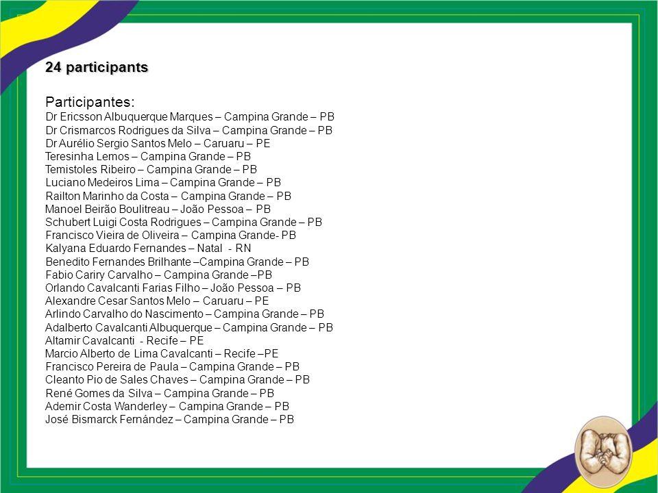 24 participants Participantes: