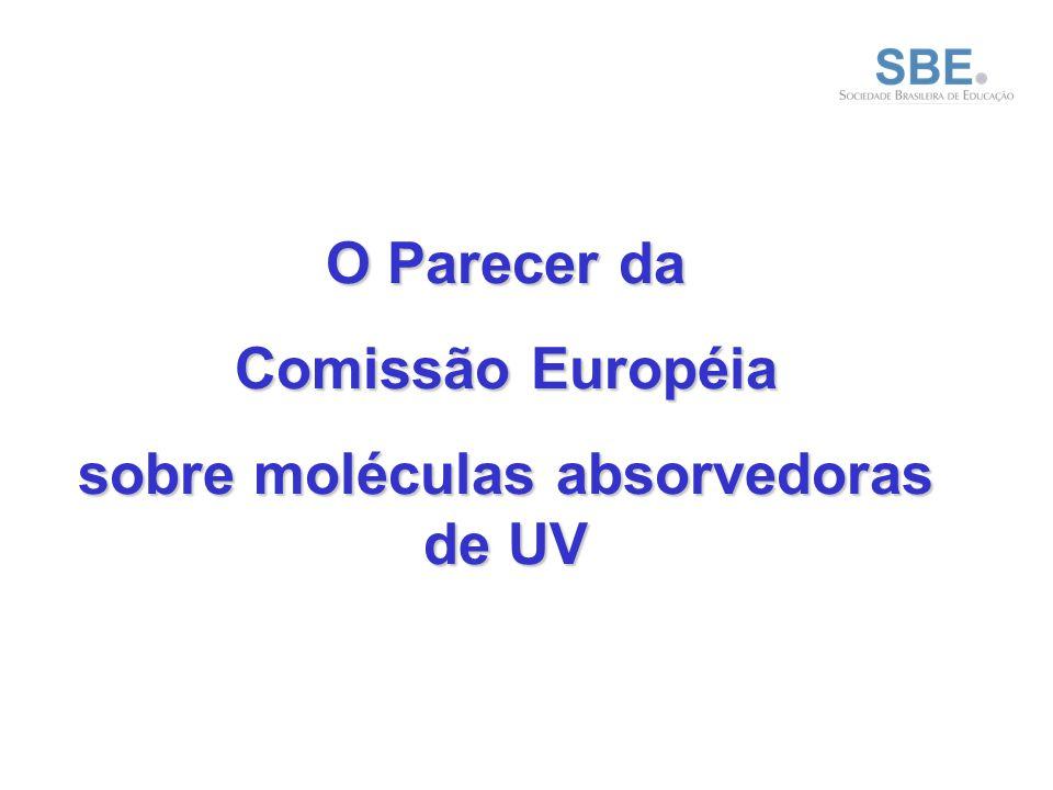 sobre moléculas absorvedoras de UV