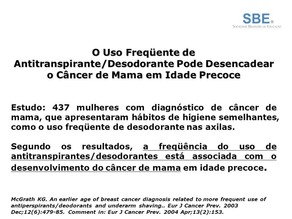 O Uso Freqüente de Antitranspirante/Desodorante Pode Desencadear o Câncer de Mama em Idade Precoce