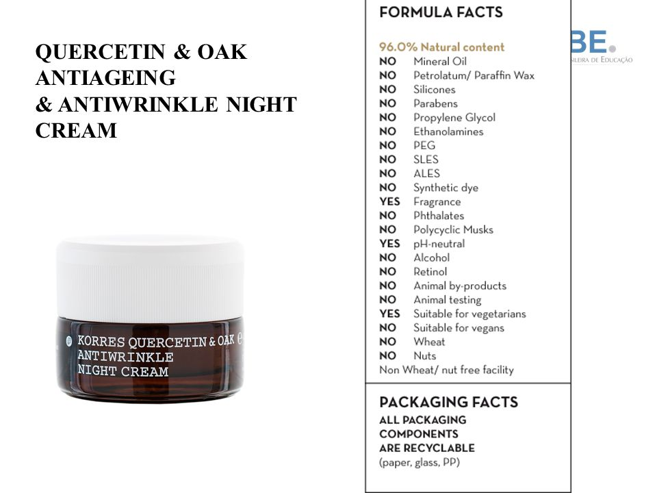 QUERCETIN & OAK ANTIAGEING & ANTIWRINKLE NIGHT CREAM