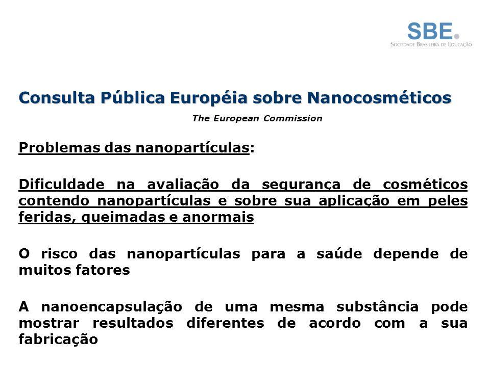 Consulta Pública Européia sobre Nanocosméticos