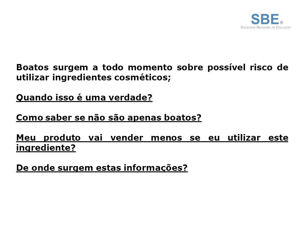 Boatos surgem a todo momento sobre possível risco de utilizar ingredientes cosméticos;