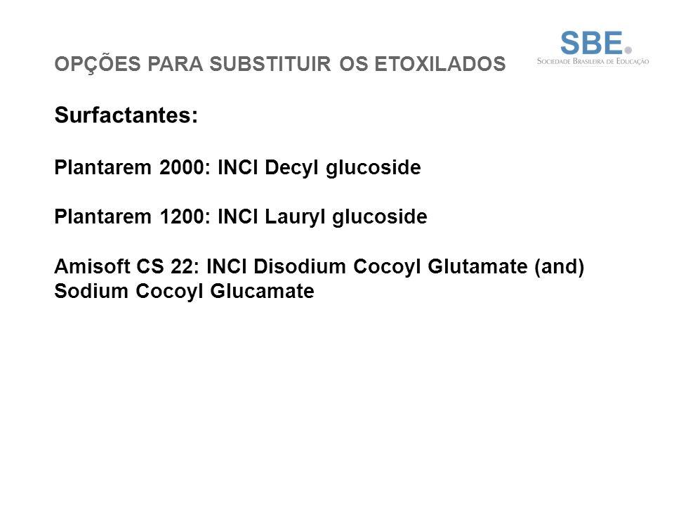 Surfactantes: OPÇÕES PARA SUBSTITUIR OS ETOXILADOS