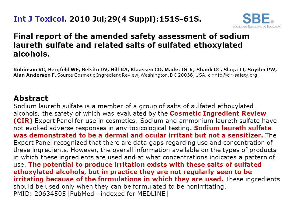 Int J Toxicol. 2010 Jul;29(4 Suppl):151S-61S.