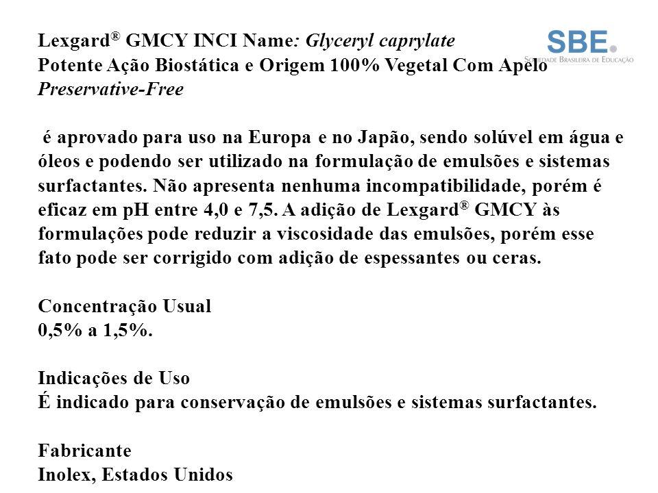 Lexgard® GMCY INCI Name: Glyceryl caprylate