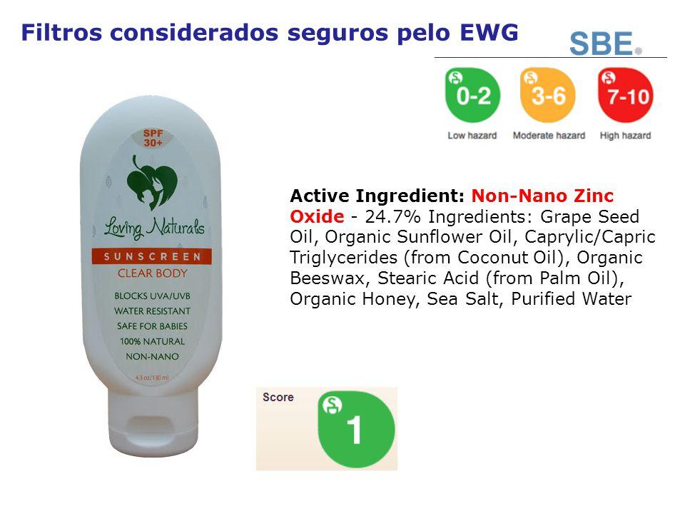 Filtros considerados seguros pelo EWG